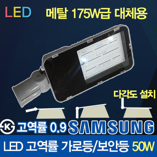 Samsung LED Chip LED 50W High Power Factor Street Light Security Halogen / Metal Halide / 175W Replacement KS / Freebolt