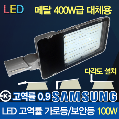 Samsung LED Chip LED 100W High Power Factor Street Lamps Free bolt